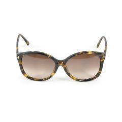Tom ford tom ford sunglasses alicia frame colored havana lens blue gradient 2