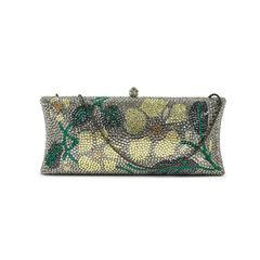 Flower crystal motif clutch