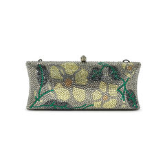 Unbranded flower crystal motif clutch 2