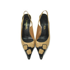 Pointed Flower Detail Pumps