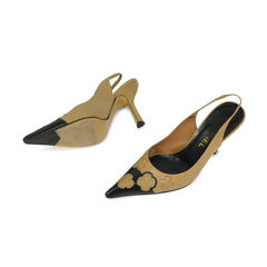 Chanel pointed toe flower detail pumps 2