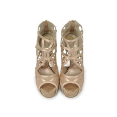 Suede Circles Sandals