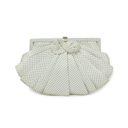 Authentic Second Hand Lulu Guinness Bow Detailed Ruffle Clutch (PSS-304-00023)