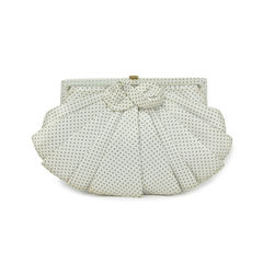Bow Detailed Ruffle Clutch