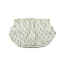 Bow detailed ruffle clutch 2