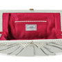 Authentic Second Hand Lulu Guinness Bow Detailed Ruffle Clutch (PSS-304-00023) - Thumbnail 5