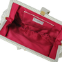 Authentic Second Hand Lulu Guinness Bow Detailed Ruffle Clutch (PSS-304-00023) - Thumbnail 6