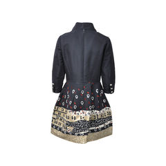Oscar de la renta silk embellished dress 2
