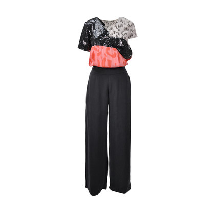 Authentic Second Hand Michael Van Der Ham Lulu & Co Contrast Jumpsuit (PSS-200-00494)