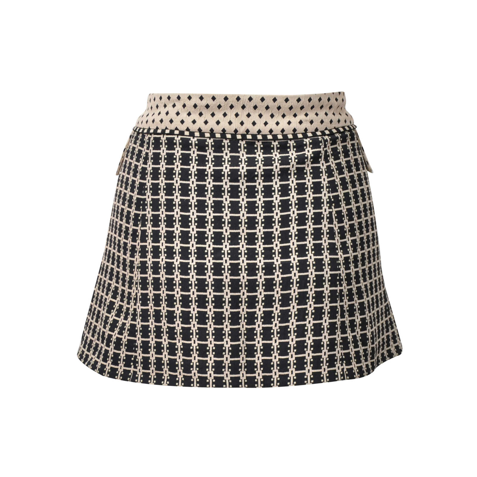 ee0b799f98 ... Authentic Second Hand Louis Vuitton Printed Mini Skirt (PSS-200-00499)  ...