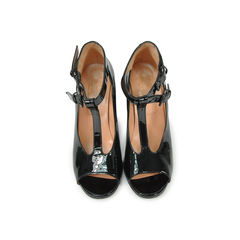 T-Strap Patent Peep Toes