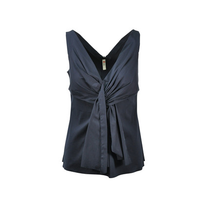 Prada Sleeveless Pleated Top