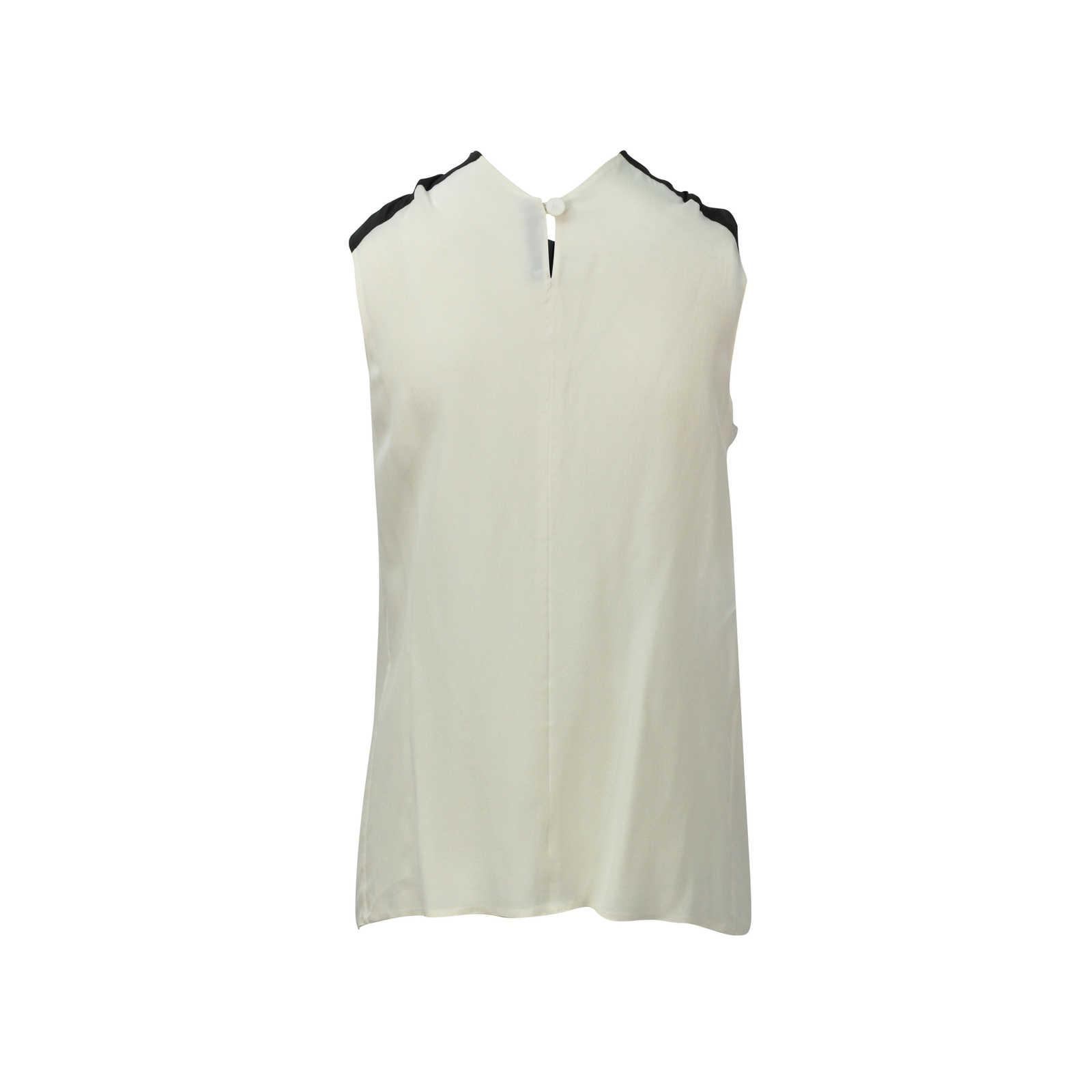 c321dc6380511 ... Authentic Second Hand Prada Tie Neck Silk Top (PSS-080-00114) ...