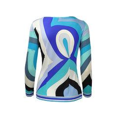 Emilio pucci blue tone print dress 2