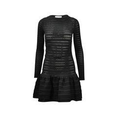 Bow Detail Ruffle Hem Dress