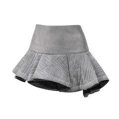 Mesh  Skirt with Asymmetrical Hem