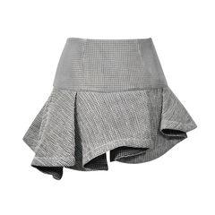 Jay ahr mesh skirt with asymmetrical hem 2