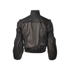 Miu miu leathed detailed bomber jacket 2