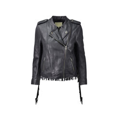 Bombay Fringed Leather Biker Jacket