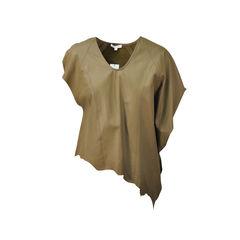 Asymmetric Leather Top