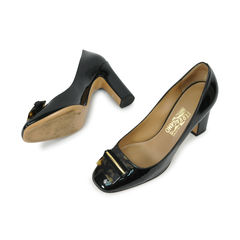 Salvatore ferragamo glossy leather pumps 2