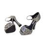 Authentic Second Hand Prada Flower Crystal Studded Heels (PSS-303-00001) - Thumbnail 3