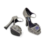 Authentic Second Hand Prada Flower Crystal Studded Heels (PSS-303-00001) - Thumbnail 4