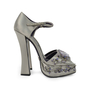 Authentic Second Hand Prada Flower Crystal Studded Heels (PSS-303-00001) - Thumbnail 1