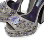 Authentic Second Hand Prada Flower Crystal Studded Heels (PSS-303-00001) - Thumbnail 5