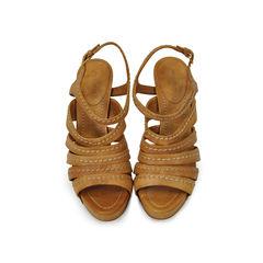 Multi Strap Stitched Sandals