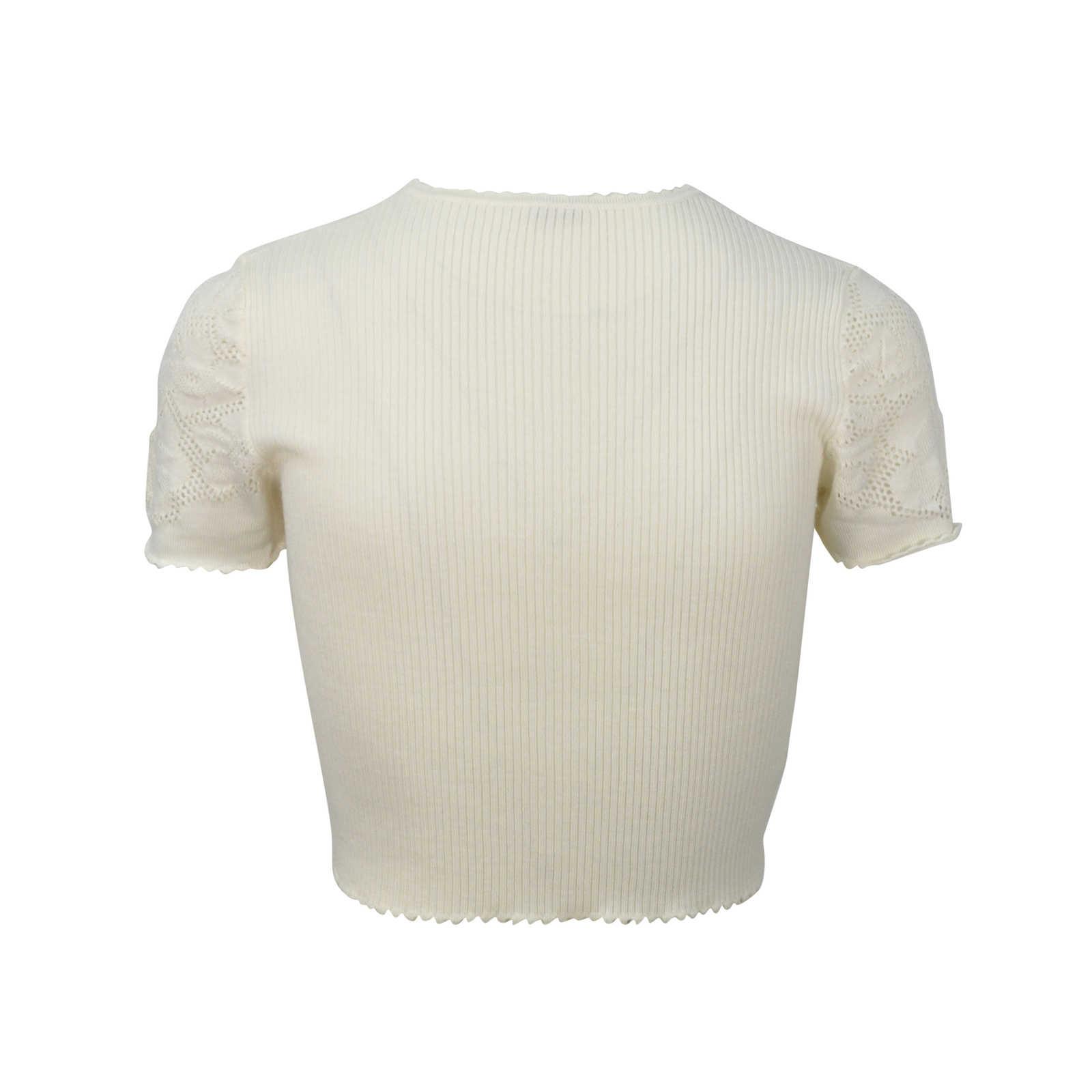 055ff46b5e4de ... Authentic Second Hand Miu Miu Crochet Crop Top (PSS-313-00012) ...