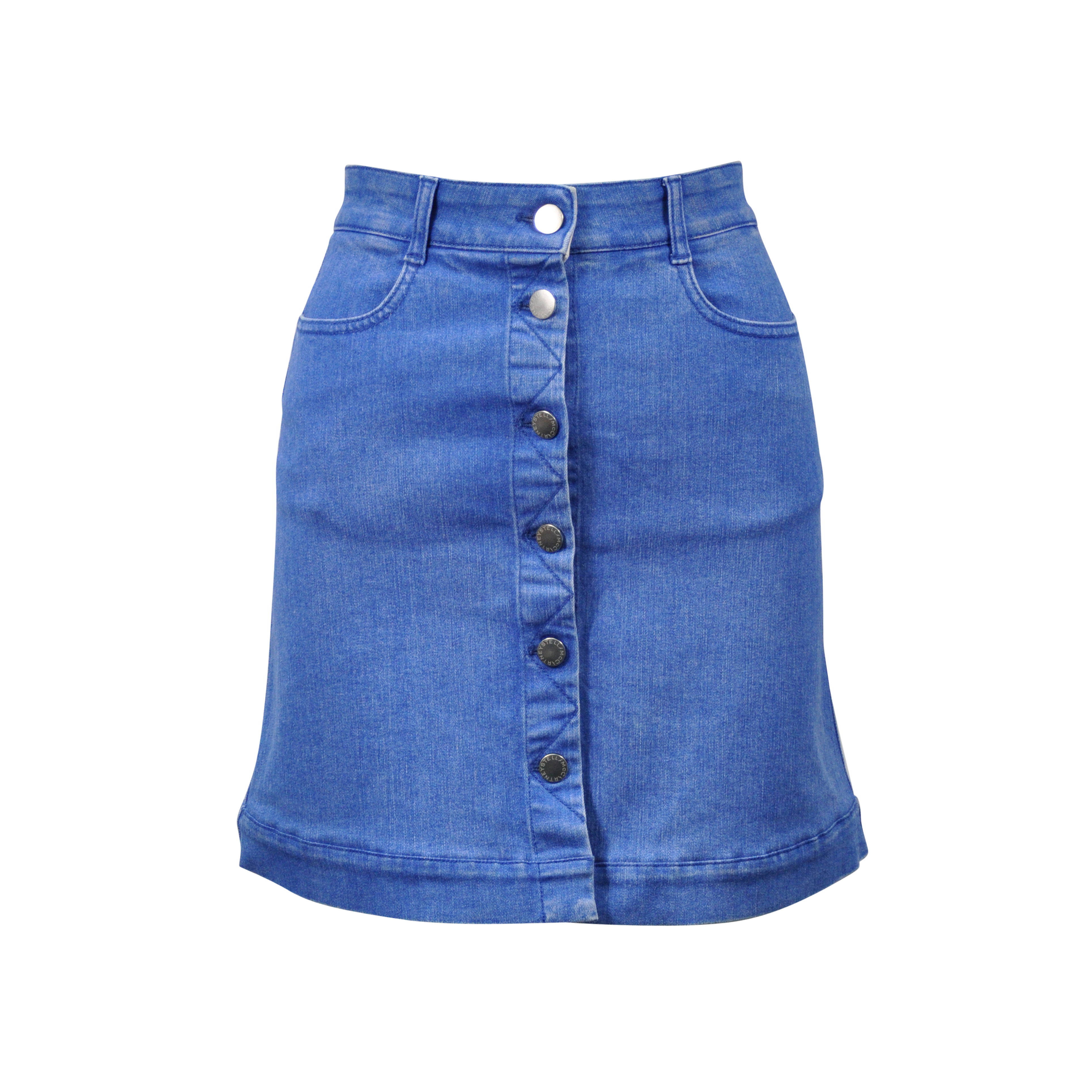 ecbdd3f7b7 Authentic Second Hand Stella McCartney Button Down Denim Skirt  (PSS-313-00013) - THE FIFTH COLLECTION
