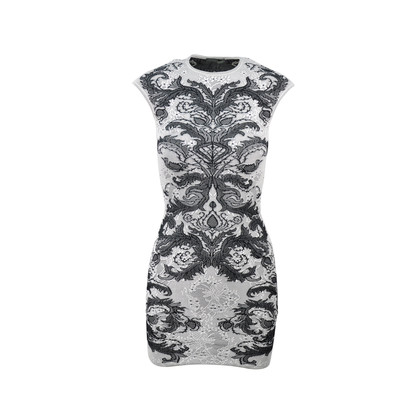 Alexander Mcqueen Spine Lace Crochet Dress