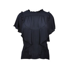 Ruched Collar Top