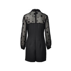 Pam gela star flocked details dress 2