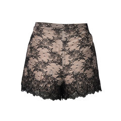 Red valentino lace shorts 2