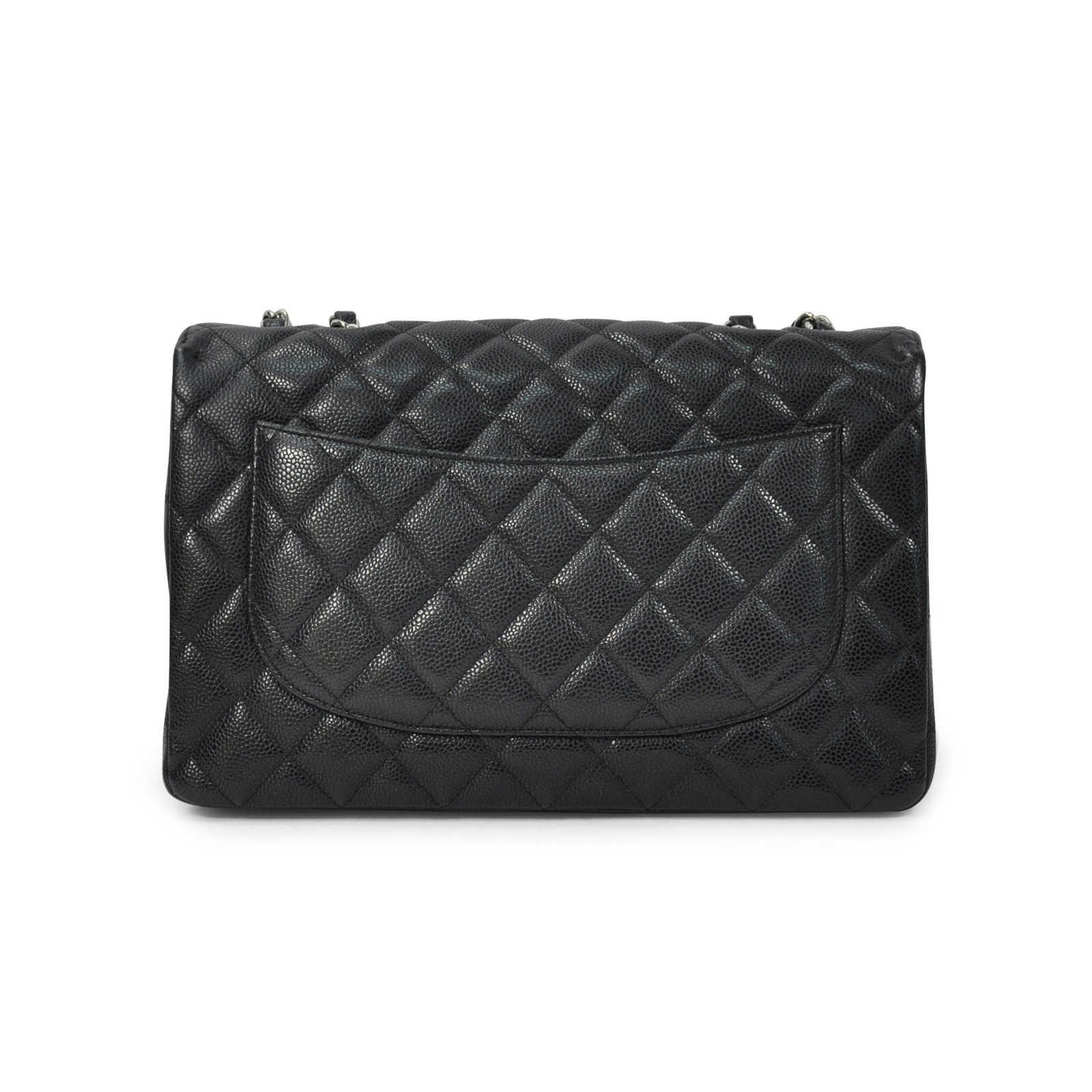 ee0c3906e53f ... Authentic Second Hand Chanel Caviar Jumbo Single Flap (PSS-311-00014)  ...