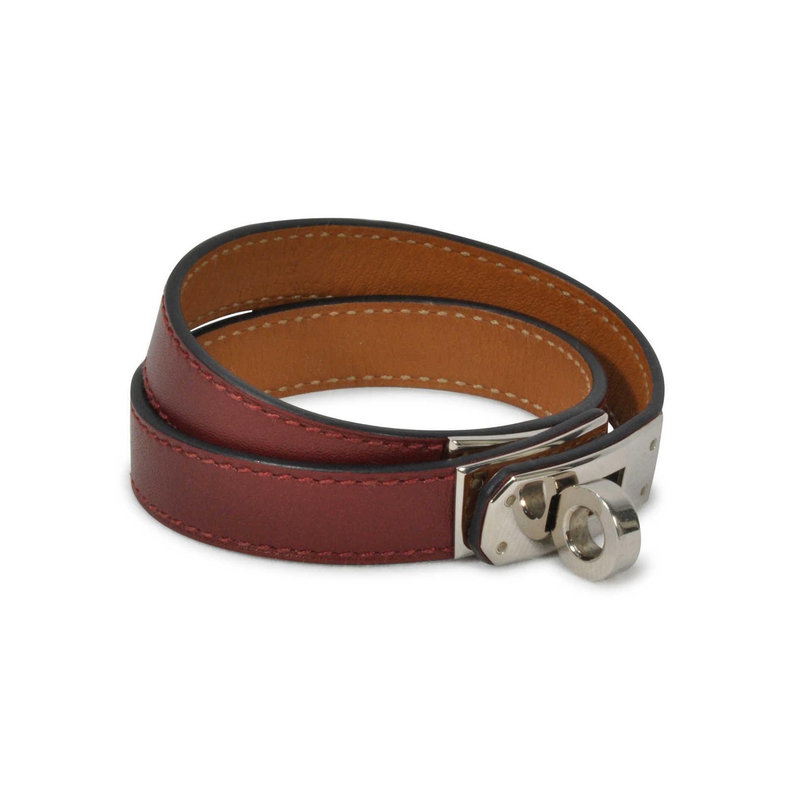 Hermes Double Tour Leather H Bracelet
