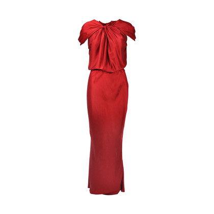 Lanvin Knot Front Draped Gown
