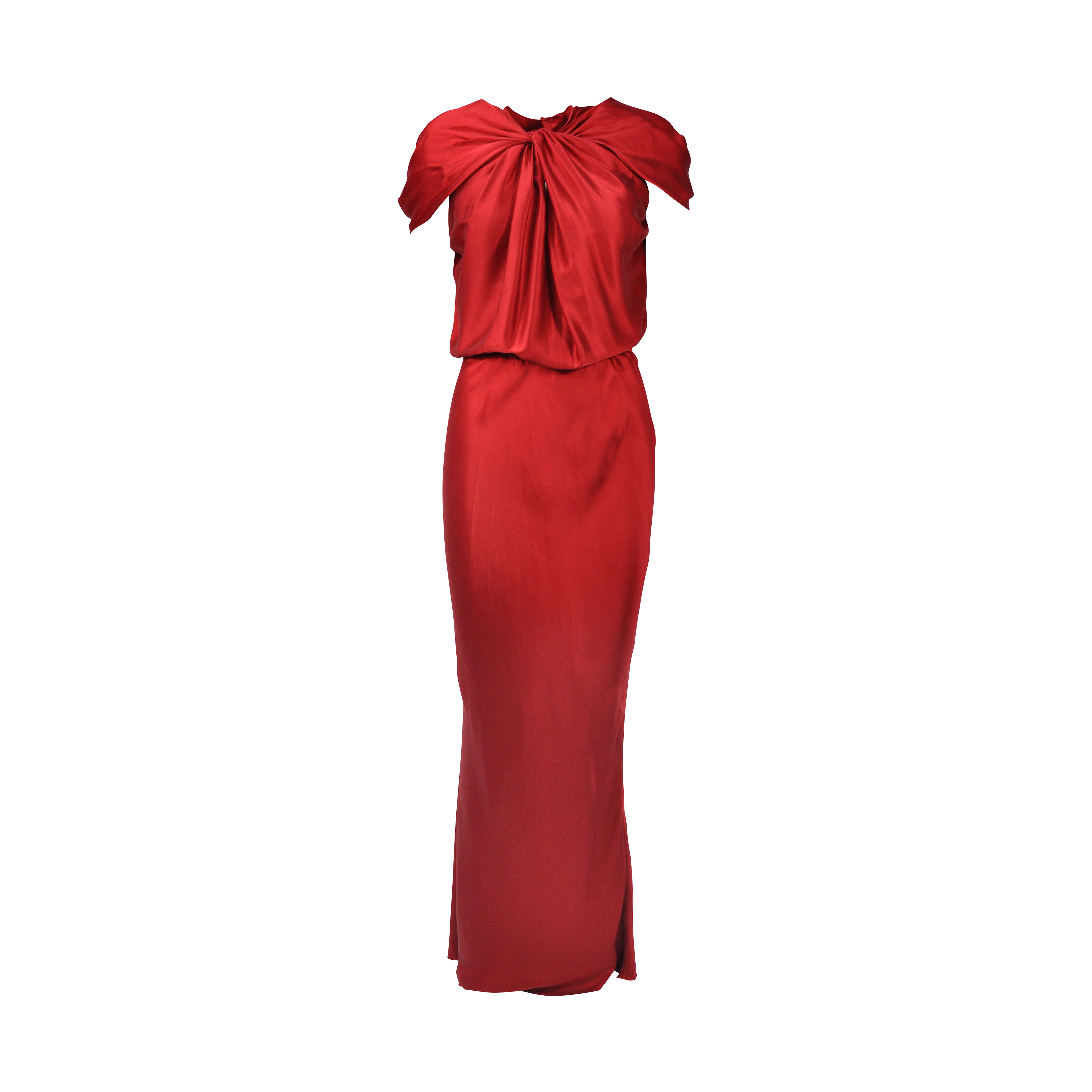 3992de07f58c Authentic Second Hand Lanvin Knot Front Draped Gown (PSS-077-00098 ...