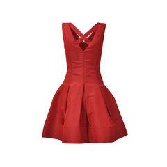 Oscar de la renta sleeveless flare skirt dress 2