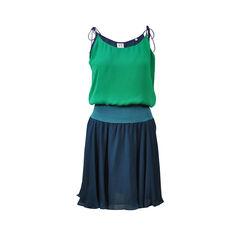 Shoulder Tie Colourblock Dress