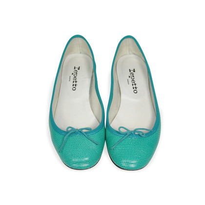 Authentic Second Hand Repetto Embossed Ballerina Flats (PSS-283-00014)