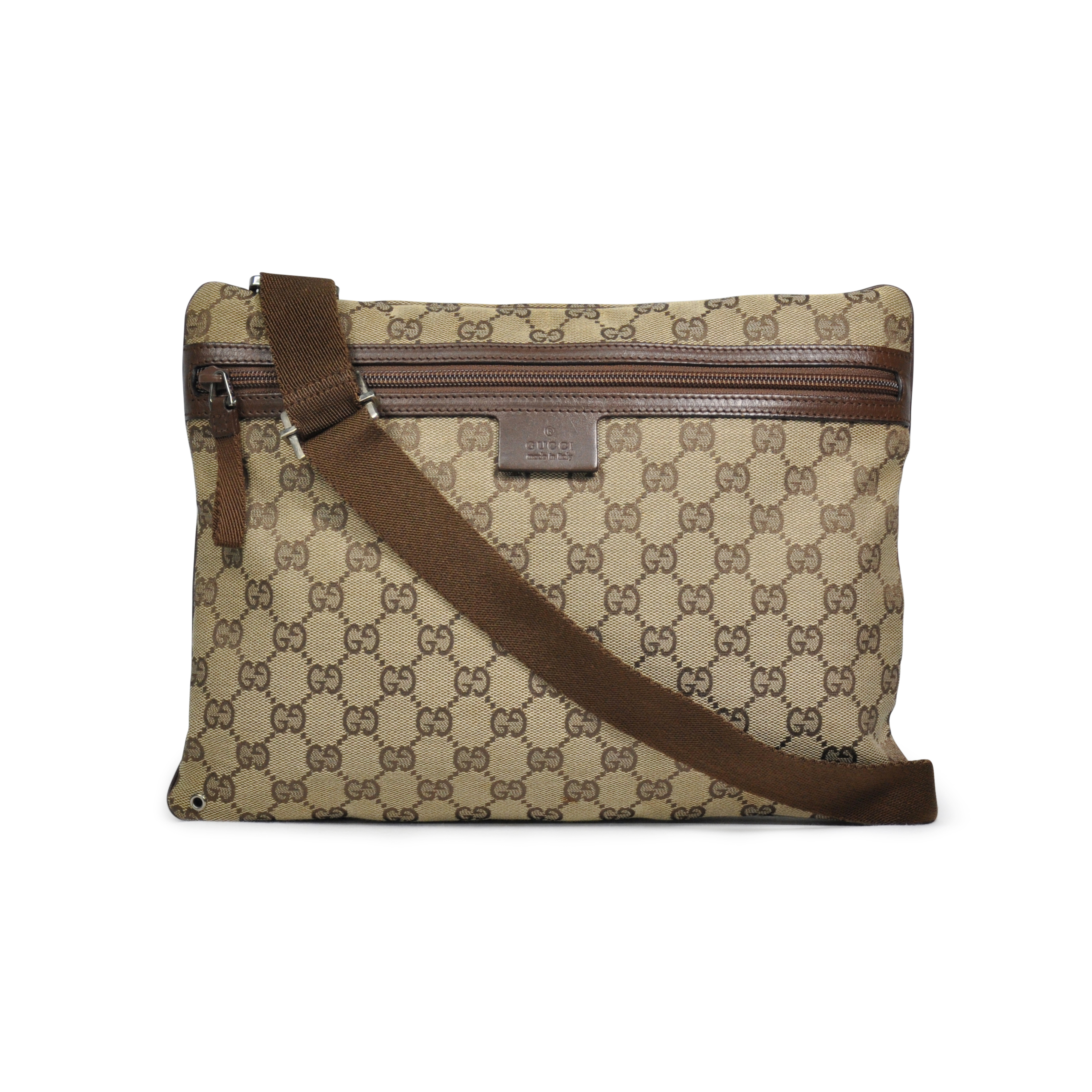 7f78eca6f Authentic Second Hand Gucci Monogram Crossbody Bag (PSS-283-00004) - THE  FIFTH COLLECTION