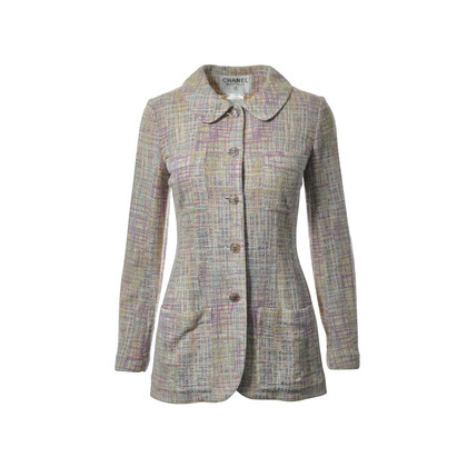Authentic Second Hand Chanel Multicolored Pastel Tweed Jacket (PSS-265-00088)