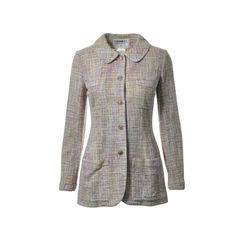 Multicolored Pastel Tweed Jacket