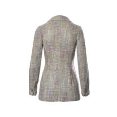 Chanel multicolored tweed coat 2