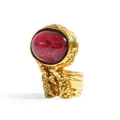 Yves saint laurent arty oval ring pss 029 00030 2