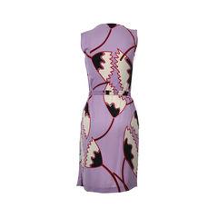 Diane von furstenberg drappy printed silk wrap dress 2
