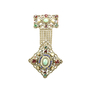 Authentic Vintage (unbranded) Gilt Metal Dangle Brooch (PSS-226-00005) - Thumbnail 0